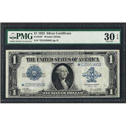 1923 $1 Silver Certificate STAR Note Fr.238* PMG Very Fine 30EPQ