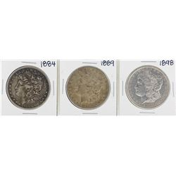 Lot of 1884, 1889, 1898 $1 Morgan Silver Dollar Coins