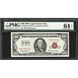 1966 $100 Legal Tender Note Fr.1550 PMG Choice Uncirculated 64EPQ
