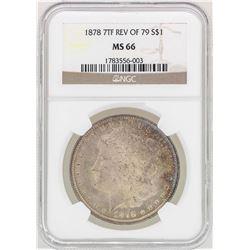 1878 7TF Reverse 79' $1 Morgan Silver Dollar Coin NGC MS66