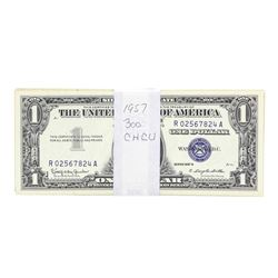 Lot of (300) 1957 $1 Silver Certificate Notes