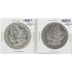 Lot of 1887-O & 1889-O $1 Morgan Silver Dollar Coins