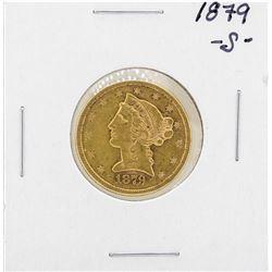 1879-S $5 Liberty Head Half Eagle Gold Coin