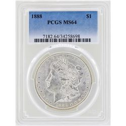 1888 $1 Morgan Silver Dollar Coin PCGS MS64