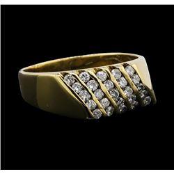 14KT Yellow Gold 0.90 ctw Diamond Ring