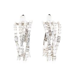 18KT White Gold 4.50 ctw Diamond Earrings