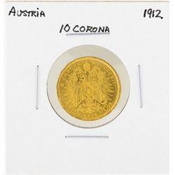 1912 Austria 10 Corona Gold Coin