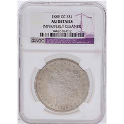 1889-CC $1 Morgan Silver Dollar Coin NGC AU Details
