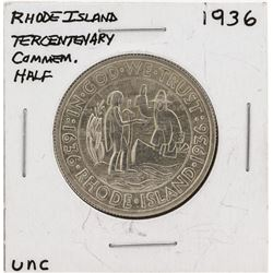 1936 Rhode Island Tercentenary Commemorative Half Dollar Silver Coin