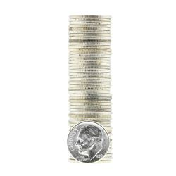 Roll of (50) 1950-D Brilliant Uncirculated Roosevelt Dimes