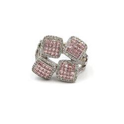 18KT White Gold 2.04 ctw Fancy Pink Diamond Ring