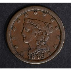 1849 HALF CENT, VF BETTER DATE
