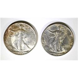 2-1945-S WALKING LIBERTY HALF DOLLARS, CH BU