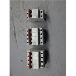 FAZ MISC.CIRCUIT BREAKERS G32A, G10A, G6A *LOT OF 3*