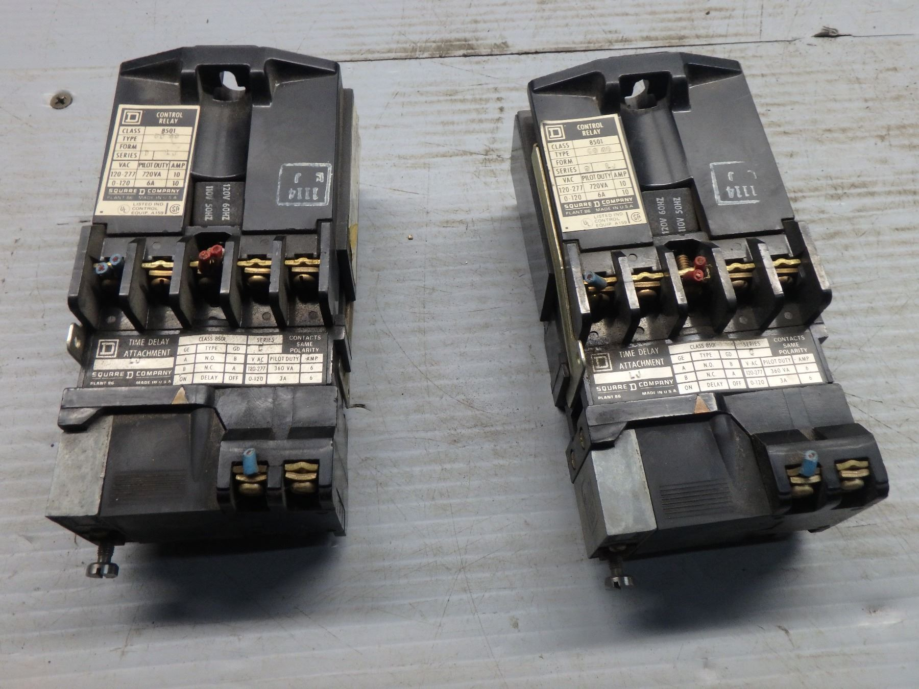 SQUARE D CONTROL RELAY CLASS 8501 TYPE GO-40 SERIES D GO40