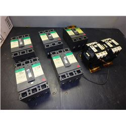 GENERAL ELECTRIC TED134050 INDUSTRIAL CIRCUIT BREAKERS(5), CR7CK-11-/CR7CJ (1) *LOT OF 6*