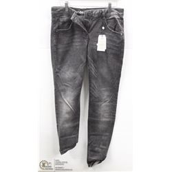 (WOMENS) PAIR OF GREY SANDWICH DENIM JEANS SIZE 38