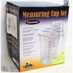 POLYCARB MEASURING CUP SET - 4L, 2L, 1L, 0.5L, 0.2
