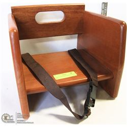 NEW TABLECRAFT WOOD BOOSTER SEAT