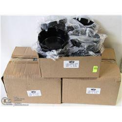 LOT OF 72 NEW BLACK PLASTIC ASHTRAYS