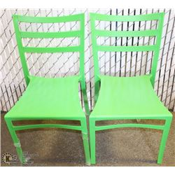2 NEW GREEN PATIO CHAIRS