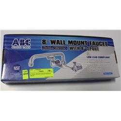 "8"" WALL MOUNT FAUCET WITH 8"" SPOUT"