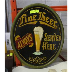 COLLECTIBLE FINE BEER SIGN