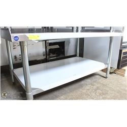 "ME#4) 30""X48"" S/S EQUIPMENT STAND WITH GALVANIZED"