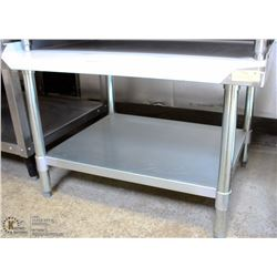 "ME#2) 30""X24"" S/S EQUIPMENT STAND WITH GALVANIZED"