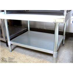 "ME#3) 30""X36"" S/S EQUIPMENT STAND WITH GALVANIZED"