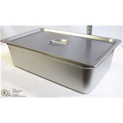 "ME#11) S/S FOOD PAN FULL SIZE 6"" DEEP WITH LID"