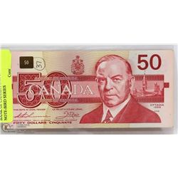 BANK OF CANADA 1988 $50 BANK NOTE-BIRD SERIES