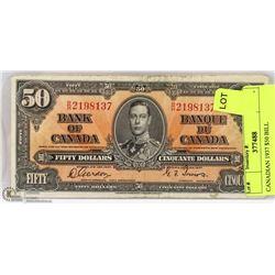 CANADIAN 1937 $50 BILL