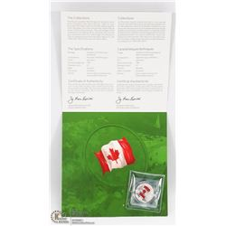 2015 CANADIAN FLAG $25 DOLLAR