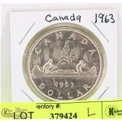CANADA 1963 SILVER DOLLAR