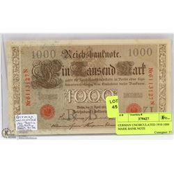 GERMAN UNCIRCULATED 1910-1000 MARK BANK NOTE