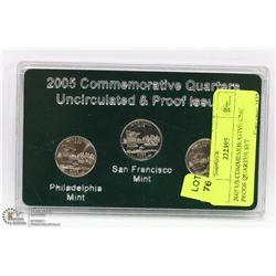 2005 US COMMEMORATIVE UNC PROOF QUARTER SET