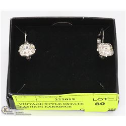 VINTAGE STYLE ESTATE CLIP -ON FASHION EARRINGS