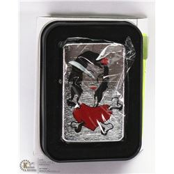 NEW ZIPPO STYLE LIGHTER W/ A PIN UP GIRL