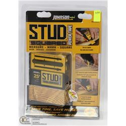 NEW JOHNSON STUD SQUARED POWER TAPE MEASURE