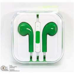 ON CHOICE: NEW GREEN  APPLE STYLE EARBUDS