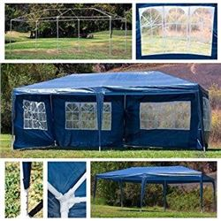 NEW BLUE 10FT X 20FT WEDDING PARTY EVENT TENT