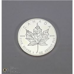 CANADIAN MAPLE LEAF .999 SILVER COIN.