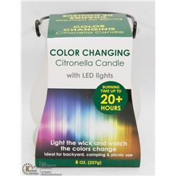 NEW COLOR CHANGING CITRONELLA CANDLE W/ LED LIGHTS