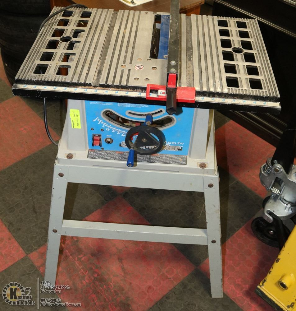 DELTA SHOP MASTER TABLE SAW WITH STAND