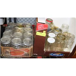 BOXES OF CANNING AND JAMMING JARS