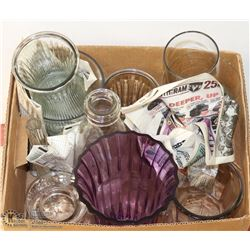 LARGE BOX OF ASSORTED VASES INCL DESIGNER AND