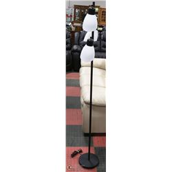BLACK FLOOR LAMP WITH 3 LIGHT HEADS