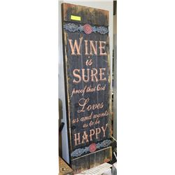 LARGE WOOD SIGN-GREAT FOR PATIO OR BAR-4FEET H