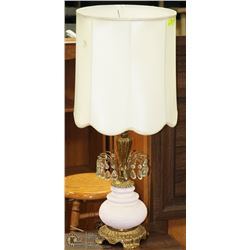 VINTAGE TEARDROP & BRASS TABLE LAMP